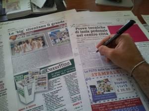 Ieri ero alle prese con la correzione delle pagine del primo numero di settembre de Il Gazzettino